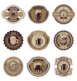 set of vintage beer labels design elements for vector image vector image