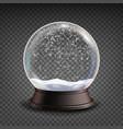 snow globe realistic realisitc 3d snow vector image vector image