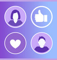 social network avatars set vector image vector image