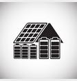 solar power battery on white background vector image