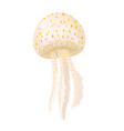 spotted jellyfish icon isolated on white vector image vector image