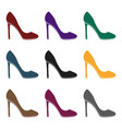 stiletto icon in black style isolated on whit vector image vector image