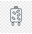 suitcase concept linear icon isolated on vector image vector image
