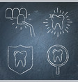 teeth whitening and protection icon set vector image vector image