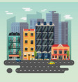 town or city landscape with skyscrapers buildings vector image vector image
