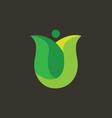 Tulip Logo vector image vector image