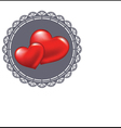 Two red heart symbol of love vector image vector image
