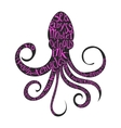 Typography lettering octopus vector image vector image