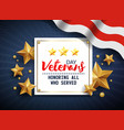 veterans day honoring all who served november 11 vector image vector image