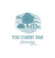 vintage logo for farm company vector image vector image