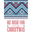 We wish you a very Merry Christmas Greeting card vector image