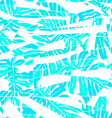 White abstract surf pattern with palm leaf vector image vector image