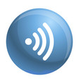 wifi icon outline style vector image vector image
