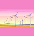 with rotation windmills vector image