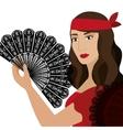 woman dancer flamenco character vector image vector image