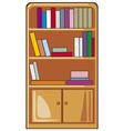 books on wooden shelves vector image