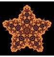 Tribal star on black Ornamental colorful vector image
