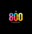 800 number grunge color rainbow numeral digit logo vector image vector image