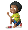 A cute young Black man vector image vector image