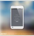 abstract white mobile phone template vector image
