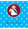 Angel with an umbrella for your design vector image