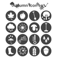 Autumn icon set vector image vector image