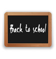 back to school on blackboard vector image vector image
