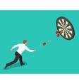 businessman hitting center target aiming vector image