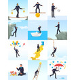 businessman risk man in risky or dangerous vector image