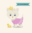cat princess with toy vector image