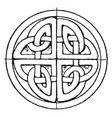 celtic stone cross circular panel is found in st vector image vector image