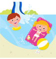 children in swimming pool vector image vector image