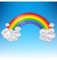 clouds and colorful rainbow vector image vector image