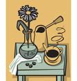 coffee still life vector image vector image