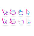colored cursor mouse pointer icon vector image vector image