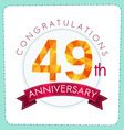 colorful polygonal anniversary logo 3 049 vector image vector image