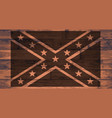 confederate flag brand vector image vector image
