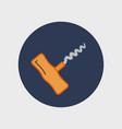 corkscrew sign icon vector image
