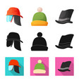 design of headgear and cap symbol vector image vector image