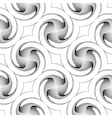 Design seamless monochrome twirl backgroud vector image vector image