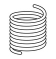 flexible cable icon outline style vector image vector image