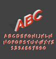 futuristic 3d alphabet geometric isometric vector image vector image