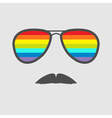 Glasses with rainbow lenses and mustaches Isolated vector image vector image