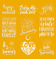 hand lettering with motivational phrases vector image vector image