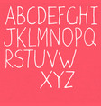 handwritten alphabet white letters on textured vector image