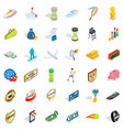 hard victory icons set isometric style vector image vector image