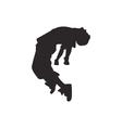 Hip hop dancer silhouette vector image vector image