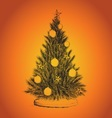 Holidays Christmas tree vector image