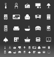 Home furniture icons on gray background vector image vector image