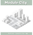 isometric module area downtown vector image vector image